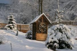 Ilustrační foto (www.shutterstock.com), zasněžená zahrada