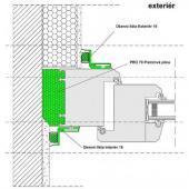 Schéma použití renovační okenní lišty v exteriéru