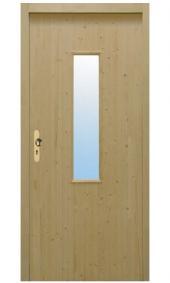 Palubkové vchodové dveře, vzor C