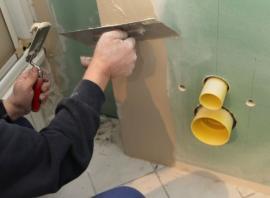 Úprava povrchu sádrokartonových desek