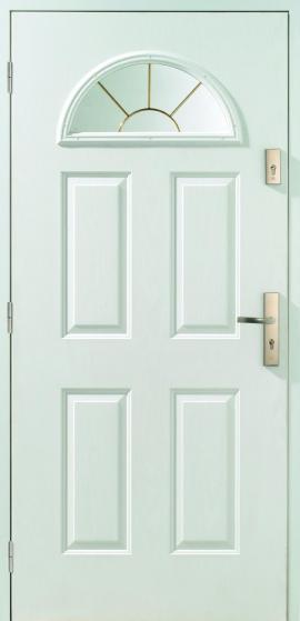 Dveře ŠTĚTÍN s prosklením a v bílé barvě