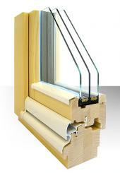 Profil dřevěného okna WS Passiv 92 (Diamant)