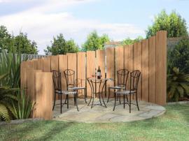 Přírodní kámen, netypické řešení terasy jako odpočinkového ostrůvku k posezení v zahradě
