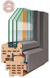 Profil dřevohliníkového okna