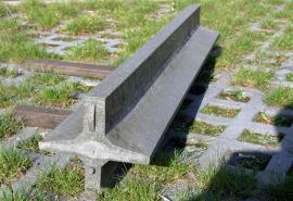 Detail plastového plotového základu
