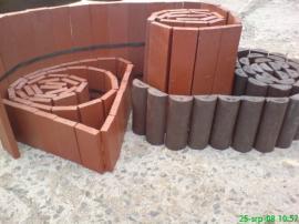 Plastové palisády rovné a půlkruhové