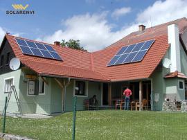 Realizovaná instalace malé fotovoltaické elektrárny
