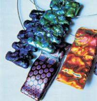 Šperky vyrobené technikou fusing
