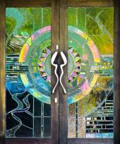 Skleněná výplň dveří