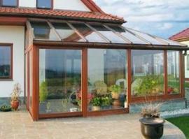 Realizace zimní zahrady, jsou použité stejné profily jako u nových oken