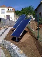 Instalované solární kolektory