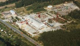 Areál míchacího centra transportního betonu
