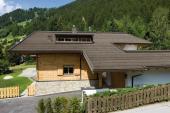 Střecha ze střešního a fasádního panelu Prefa FX.12