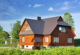 Nízkoenergetická dřevostavba srubového typu - roubenka