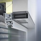 Větrací systém se montuje do horní části okna a tvoří s ním sladěný celek.