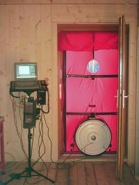 Blower door test, zdroj: www.ncinsulation.net