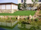 Jezírko realizované zahrady