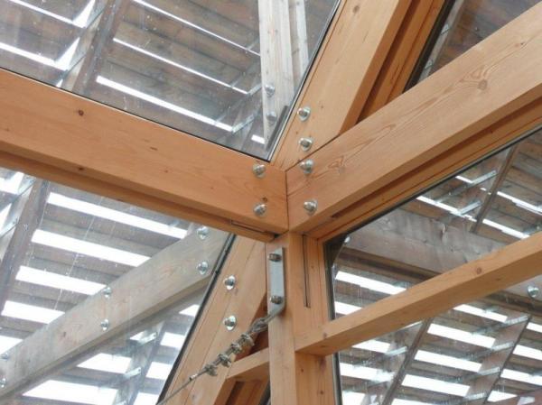 Lesovna na Flekačkách u Písku, detail stavební konstrukce