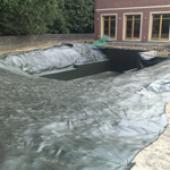 PVC izolace zahradního jezírka