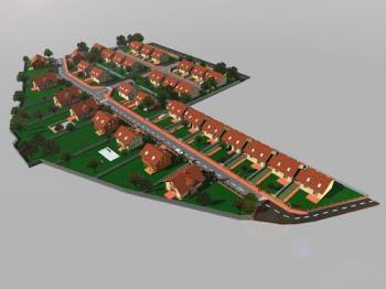 Celkový pohled na lokalitu, 3D vizualizace