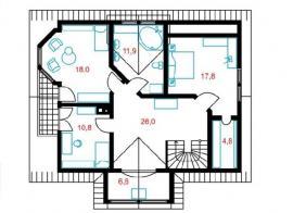 První nadzemní podlaží domu Petra 8