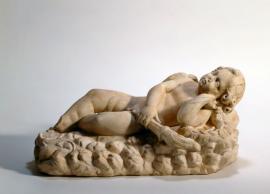 Spící Eros s pochodní
