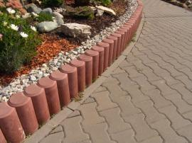 Betonové palisády a zámková dlažba