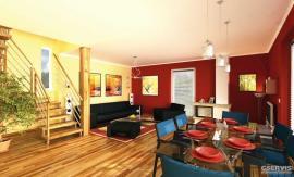 Vizualizace interiéru domu Domino