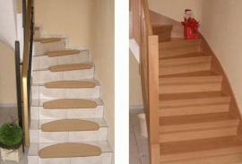 Schodiště před a po renovaci