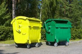 Barevné kontejnery na tříděný odpad