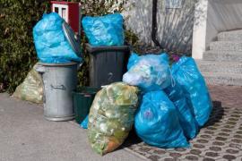 Tříděný odpad v pytlích