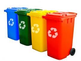 Barevné popelnice na tříděný odpad