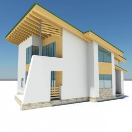 3D model pasivního domu