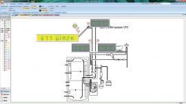 Schéma zapojení trubicového solárního panelu auroTHERM exclusiv a on-line monitoring.