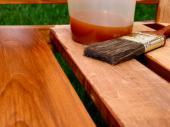 Nátěr dřevěného zahradního nábytku