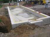 Stavba automobilové váhy - betonový základ