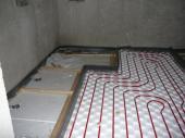 Pokládka podlahového topení