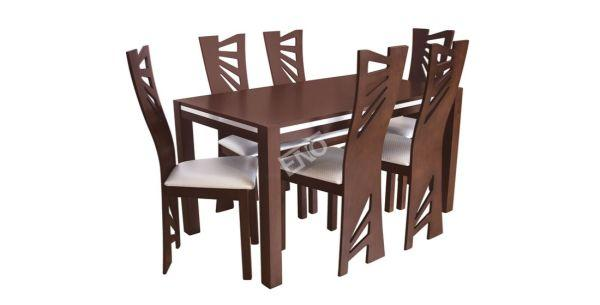 Jídelní sestava 405 se zvláštně designově řešenými židlemi