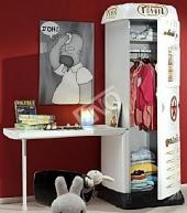 Skříň a psací stůl Čerpací stanice - bílá