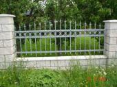 Zděné oplocení s kovanou plotovou výplní