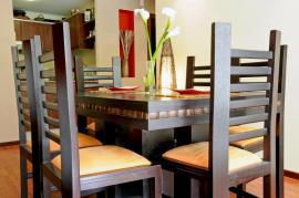 Židle s čalouněnými sedáky