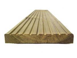 Terasové prkno ze stepní borovice - tlakově impregnované
