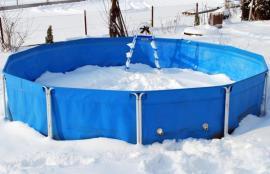 Nadzemní bazén fóliový s nosnou konstrukcí, na zimu se nemusí uskladňovat