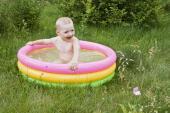 Miniaturní dětský nafukovací bazén, vejde se i na balkón