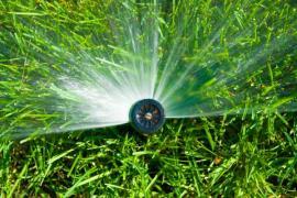 Zavlažování trávníku