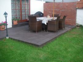 Plastové terasové desky na terase