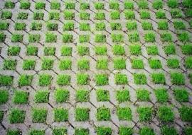 Plastová zatravňovací dlažba, odměnou je bohatá vegetace