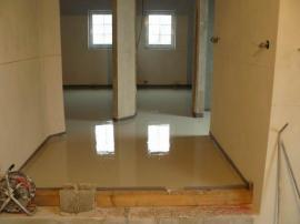 Litá anhydritová podlaha