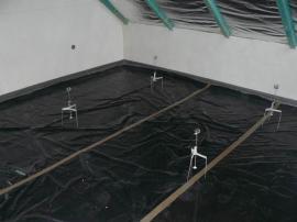 Strojně realizované omítky, podlaha je připravena na vylití anhydritem