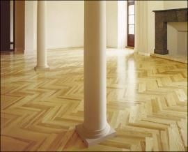 Podlaha z dvouvrstvých dřevěných parket